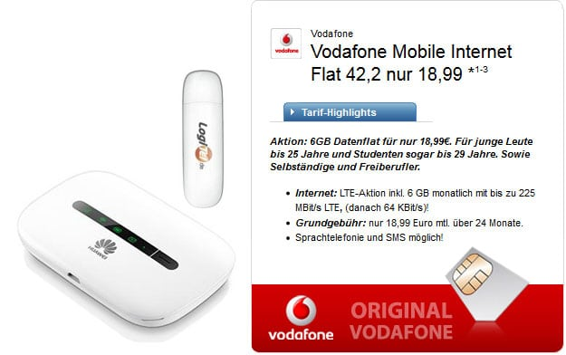 Vodafone 6 GB Datenflat