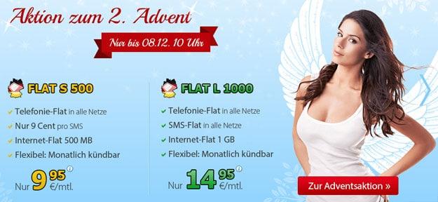 DeutschlandSIM Flat S 500 für 9,95 € im Monat