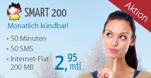 DeutschlandSIM Smart 200 für 2,95 €