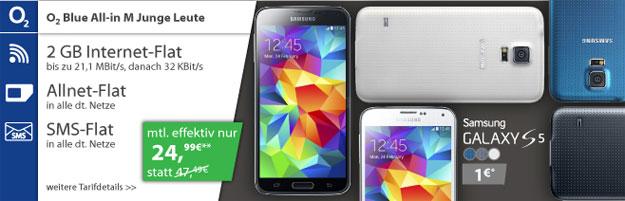 o2 Blue All-in M Junge Leute mit Samsung Galaxy S5
