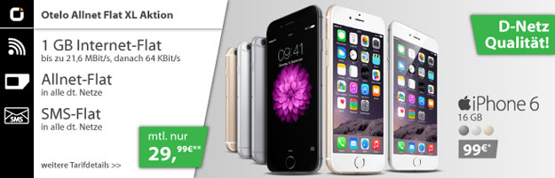 iPhone 6 - Otelo Allnet-Flat XL