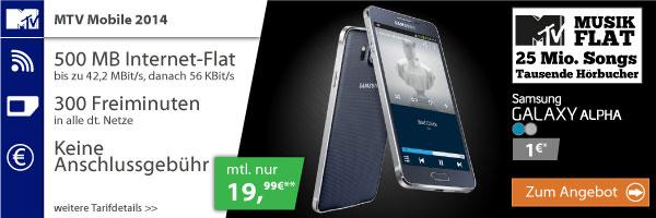 MTV Mobile Samsung Galaxy Alpha