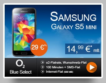 o2 Blue Select - Samsung Galaxy S5 Mini