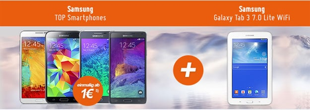 Otelo Allnet-Flat L mit Samsung Galaxy Phone