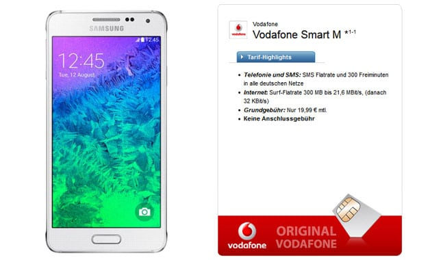Samsung Galaxy Alpha mit Vodafone Smart M