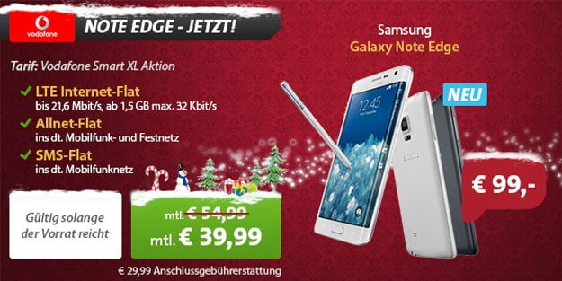 Samsung Galaxy Note Edge + Vodafone Smart XL