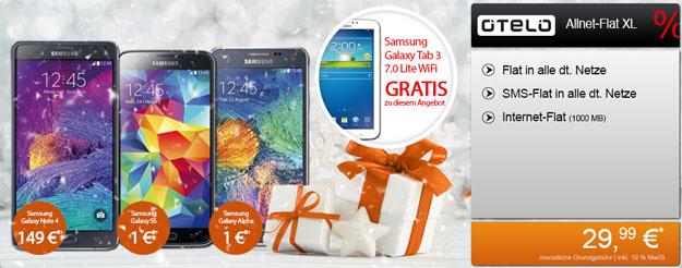 Samsung Galaxy Top-Handy mit Otelo Allnet-Flat XL