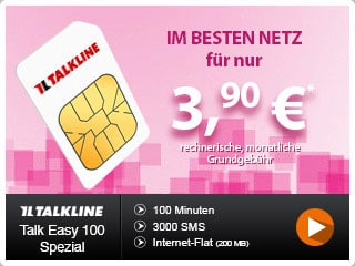 Talkline Talk Easy 100 Telekom bei Handyflash
