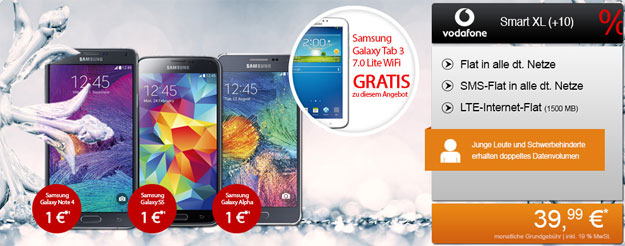 Vodafone Smart XL + Samsung Galaxy Note 4