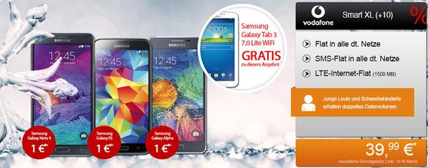 Vodafone Smart XL + Samsung Galaxy Note 4