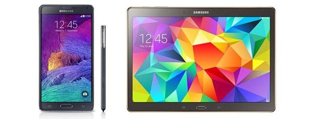Samsung Galaxy Note 4 mit Tab S 10.5