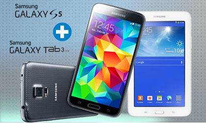 Samsung Galay S5 + Tab 3 (7.0) Lite