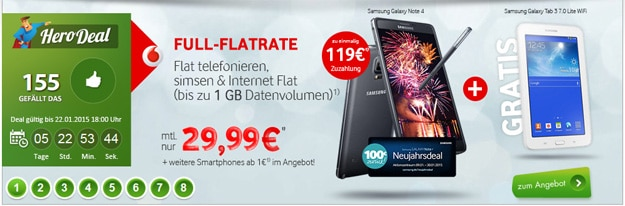 Hero Deal mit Vodafone Smart L und Galaxy Note 4