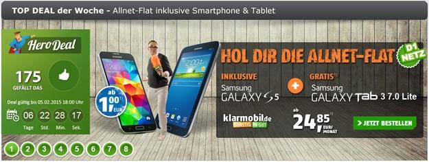 Klarmobil AllNet-Spar-Flat mit Handy im Hero-Deal