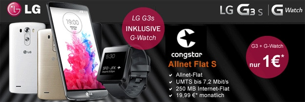Congstar S mit LG G3 s