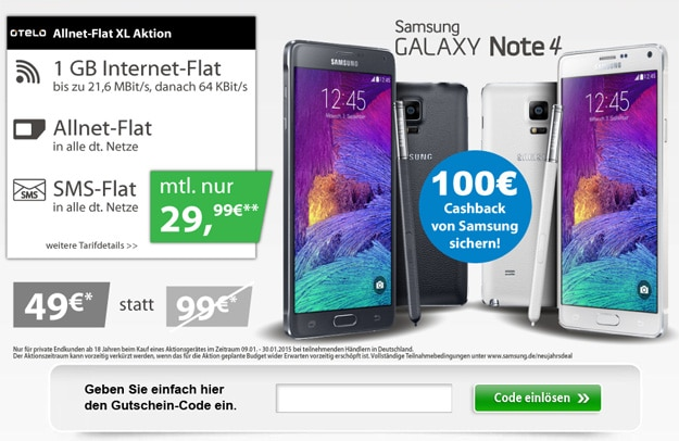 LogiTel Otelo XL Note 4 Gutschein-Aktion