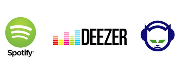 Musikflats Deezer Spotify Napster