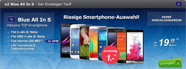 o2 Blue All-in S mit Handys
