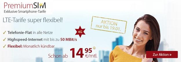 PremiumSIM LTE-Tarife