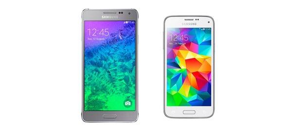 Samsung Galaxy Alpha und S5 Mini