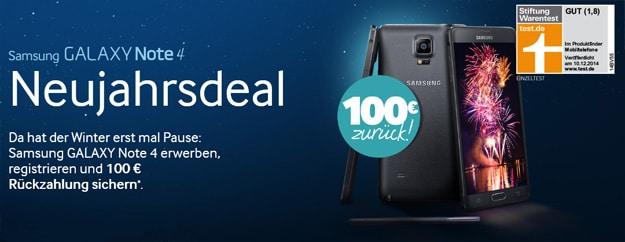 Samsung Galaxy Note 4 im Neujahrsdeal