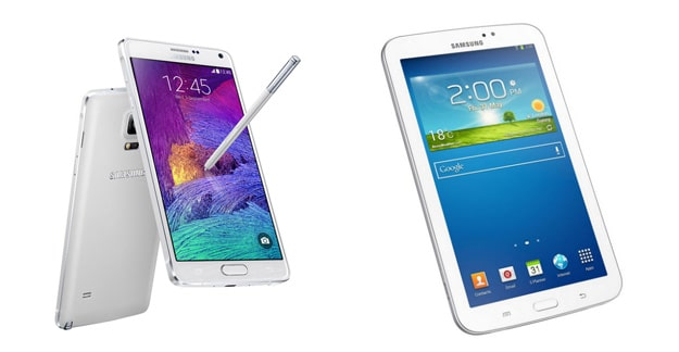 Samsung Galaxy Note 4 + Tab 3 (7.0) Lite