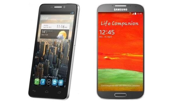 Samsung Galaxy S4 und Alcatel One Touch Idol