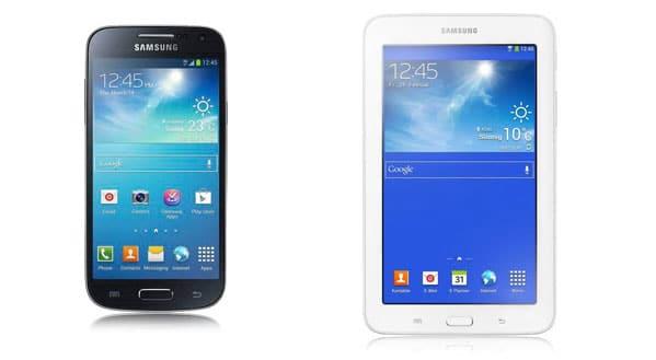 Samsung Galaxy S4 Mini mit Tab 3 (7.0) Lite und TE 100
