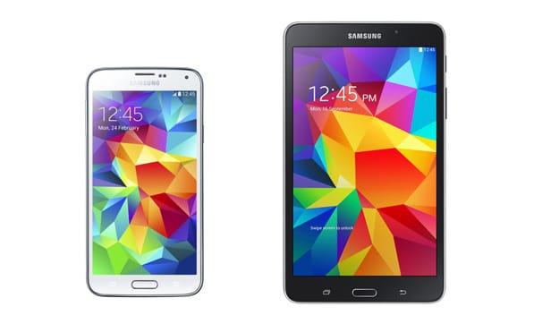 Samsung Galaxy S5 + Galaxy Tab 4 (7.0) LTE