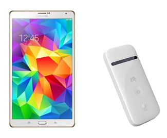 samsung galaxy tab s 8 4 wifi zte mifi mit bis zu 154. Black Bedroom Furniture Sets. Home Design Ideas