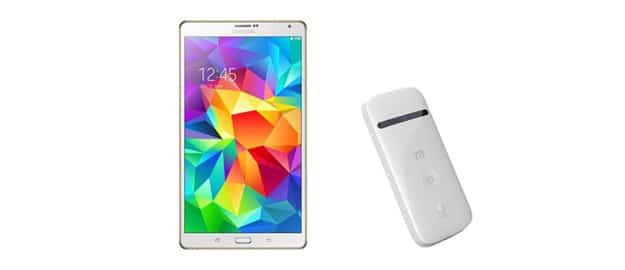 Samsung Galaxy Tab S (8.4) imd ZTE MiFi mit Ersparnis