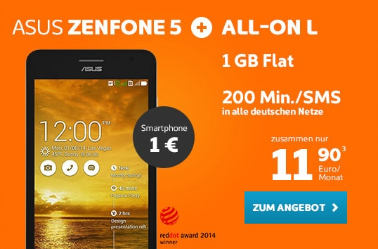 simyo All-on L mit Asus Zenfone 5