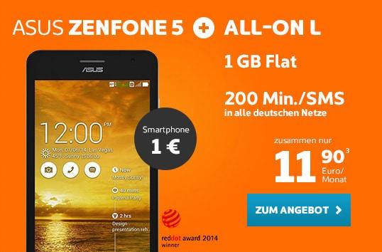 simyo All-on L mit Asus Zenfone 5