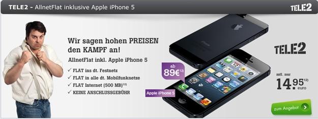 Tele2 Allnet-Flat mit iPhone 5 B-Ware