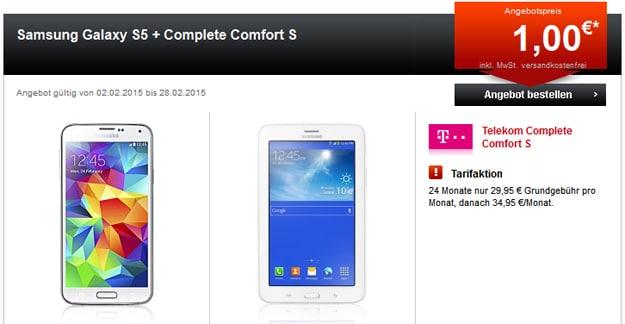 Telekom Complete Comfort S mit Tablet und S5