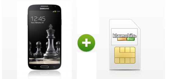 Klarmobil Allnet-Flat mit Samsung Galaxy S4 Mini Black Edition