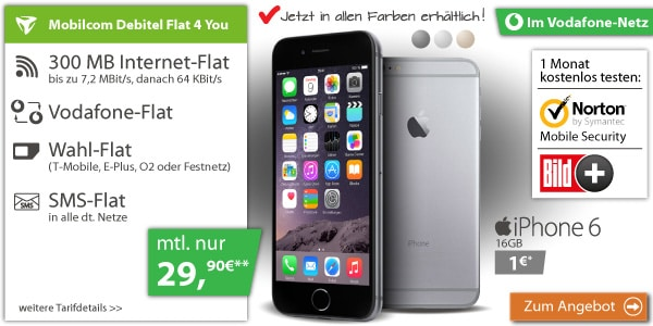 md Flat 4 You Vodafone mit iPhone 6
