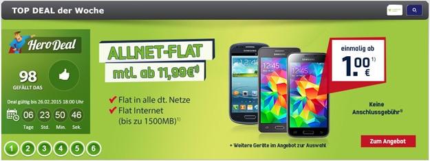 o2 Allnet-Flat Comfort mit Handy