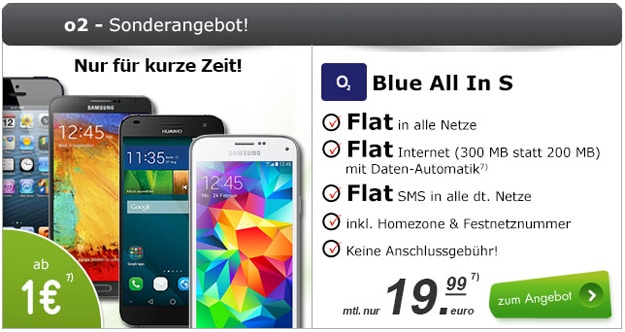 o2 Blue All-in S mit Samsung Galaxy S5 Mini