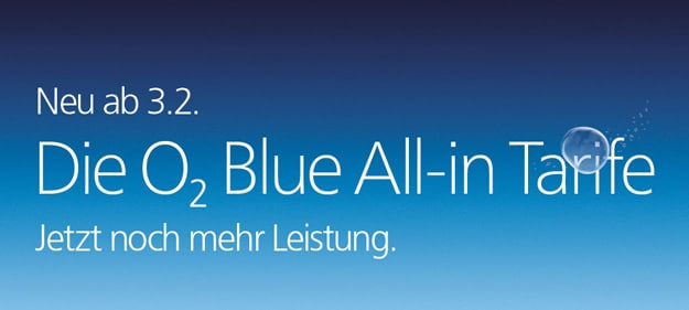 o2 Blue Neuerungen