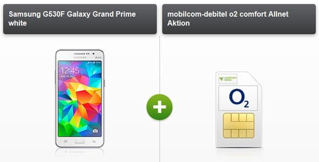 o2 Comfort Allnet mit Samsung Galaxy Prime u.a.