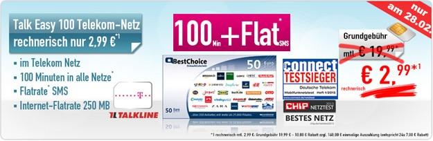 Talk Easy 100 mit 50 € BestChoice-Gutschein