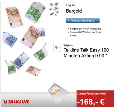 Talkline Talk Easy 100 für 2,90 €