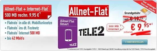 Tele2 Allnet-Flat für 9,95 € Handybude
