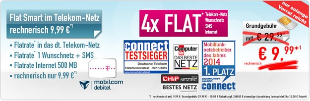 Telekom Flat Smart (md) mit 240 € Auszahlung