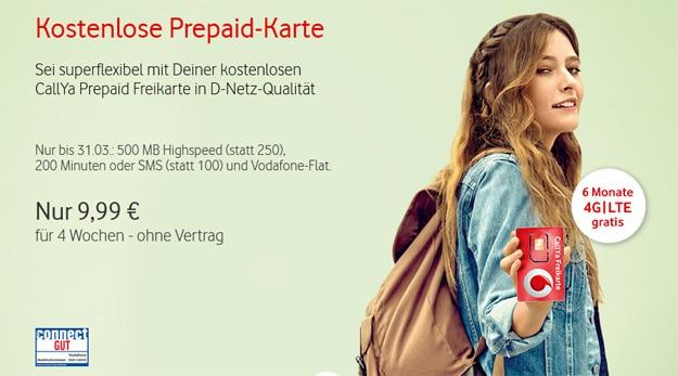 Vodafone kostenlose Prepaidkarte