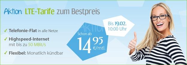 winSIM LTE-Tarife ab 14,95 € mtl.