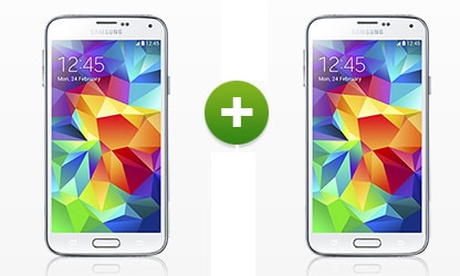 2 mal Samsung Galaxy S5 zu Smart XL