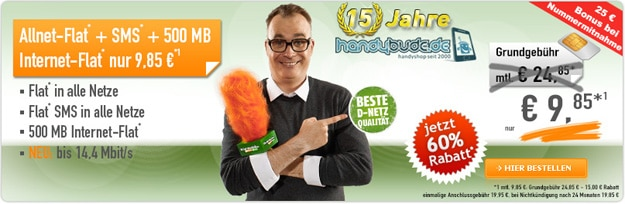 Klarmobil Knaller für 9,85 €