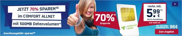 o2 Comfort Allnet für 5,99 € im Monat